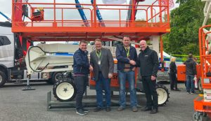 Martin Hanley and James Dundon of CPH with Snorkel Owner Don Ahern and Dave Roddy of Snorkel UK at Vertikal Days 2018