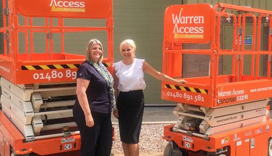 Warren Access grows with Snorkel Scissor Lifts