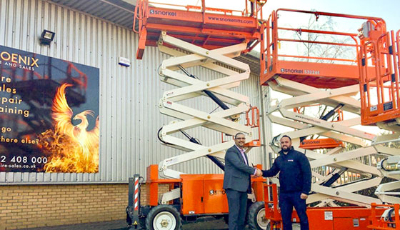 New Snorkel scissor lifts delivered to Phoenix Hire & Sales