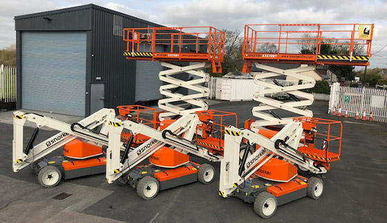 Five Snorkel lifts delivered to Blulift in Limerick, Ireland