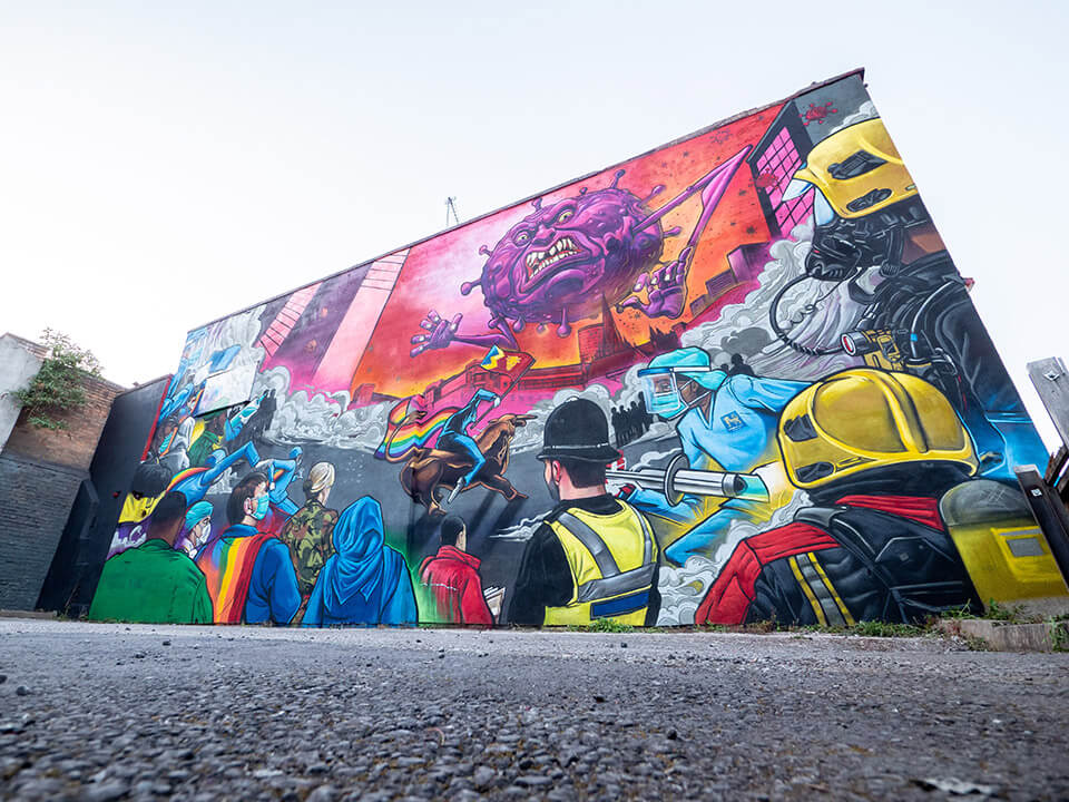 The completed mural. Photo courtesy of Edwin Ladd - Mr Ladd Media